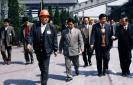 1995年4月23日,时任安徽省委副书记、省长回良玉(右二)莅临公司视察。